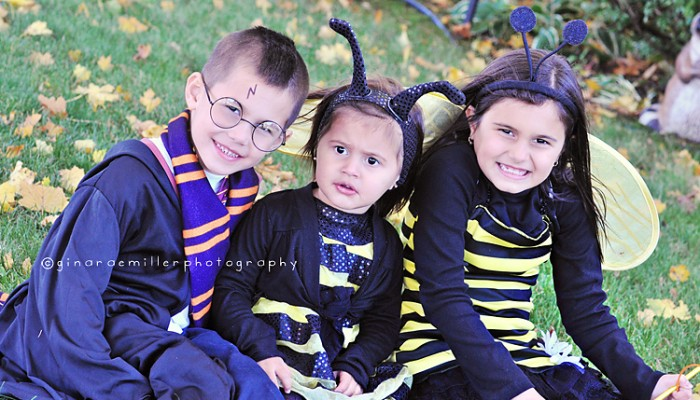 harry potter & sister bees | halloween 2010