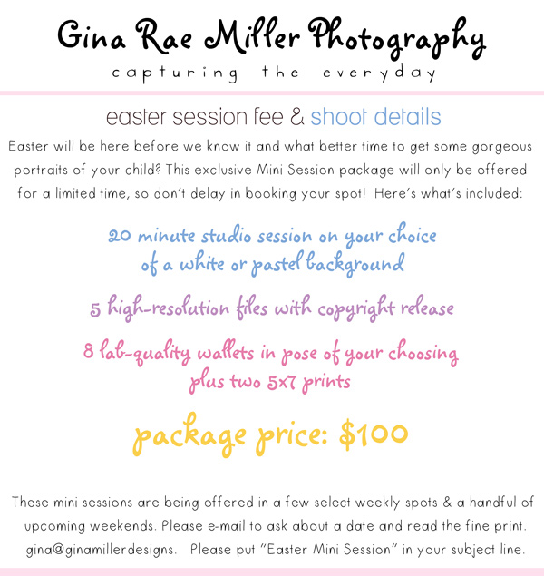 INFOSessionFeesEasterWEB easter & spring mini session | studio specials