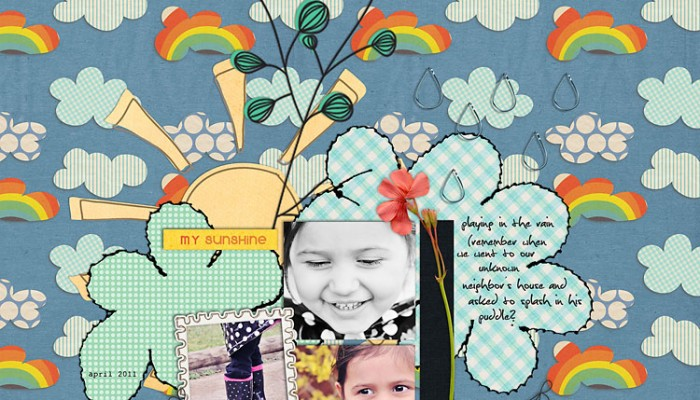 iNSD blog hop | digital scrapbooking