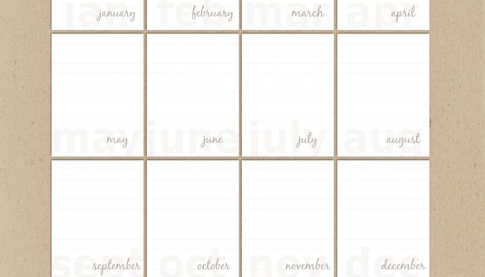 weekly & monthly journal cards | giveaway