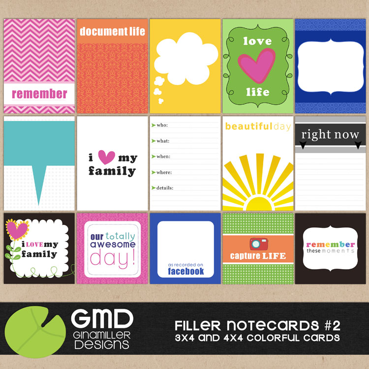 Project life journal cards digital scrapbooking check m4hsunfo