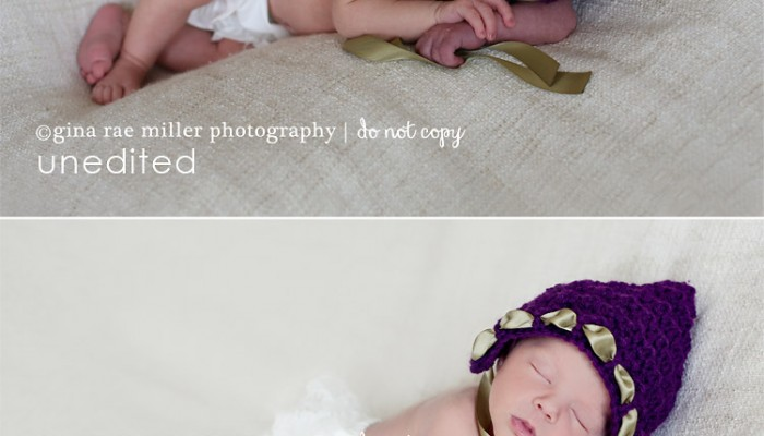 before & after: smoothing newborn skin