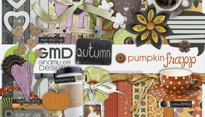 pumpkin frapp | digital scrapbooking