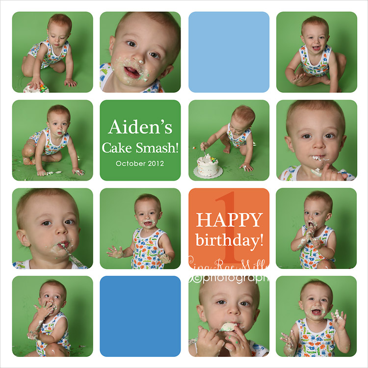 Aiden8 a cake smash at a glance | long island birthday photographer