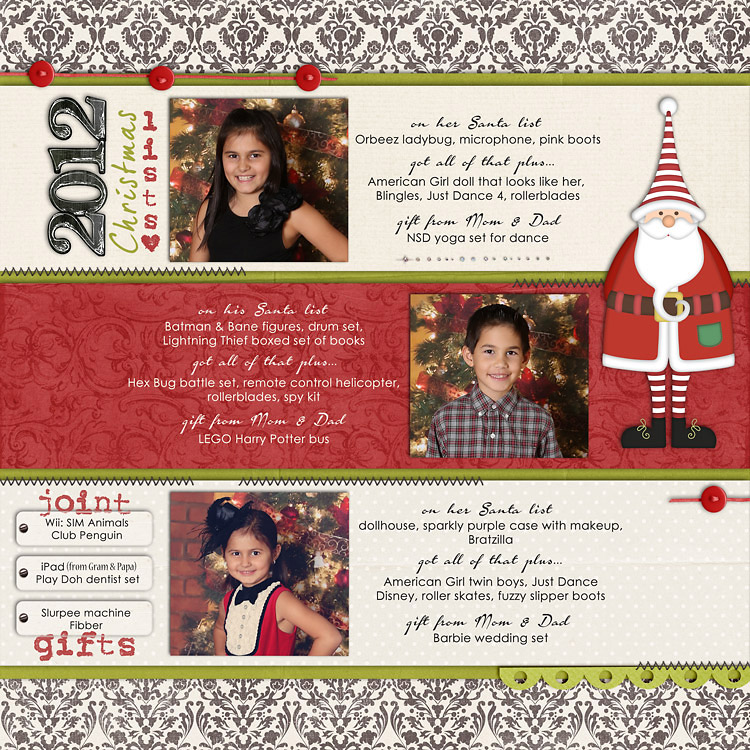ChristmasLists2012WEB layouts to finish up my 2012 scrapbook