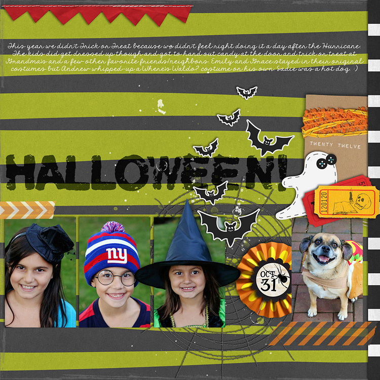 Halloween2012WEB layouts to finish up my 2012 scrapbook