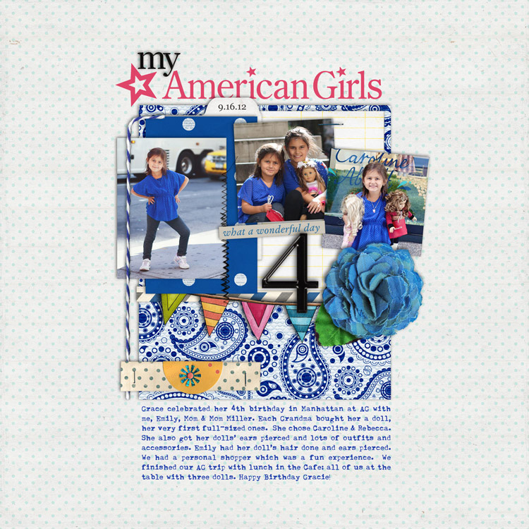MyAmericanGirlsWEB layouts to finish up my 2012 scrapbook