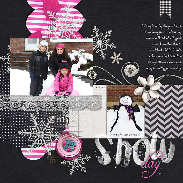 SnowDayWEB layouts to finish up my 2012 scrapbook