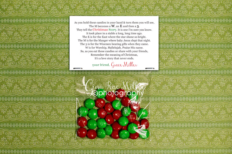 m2 m&m christmas story | holiday printable