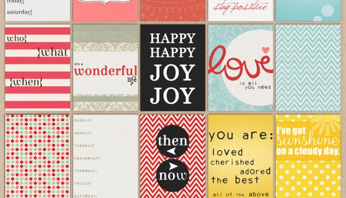 project life journal cards, pack 12 | digital scrapbooking