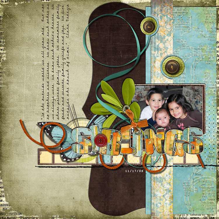 l1 layouts, old school style | digital scrapbooking