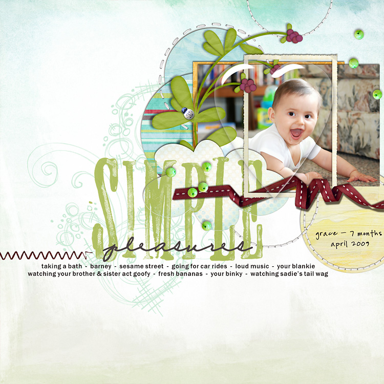 l2 layouts, old school style | digital scrapbooking