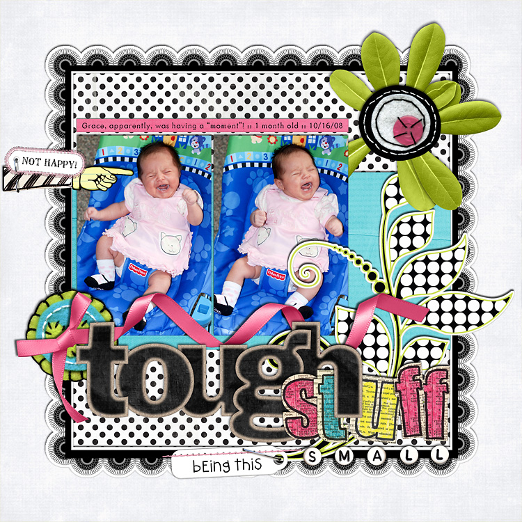 l6 layouts, old school style | digital scrapbooking