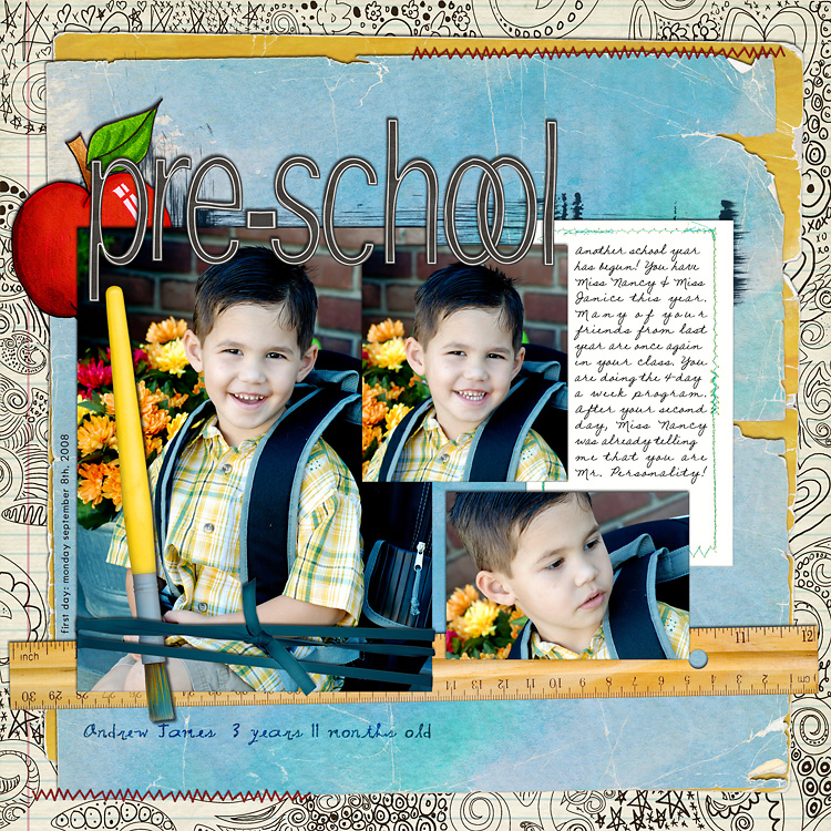 l8 layouts, old school style | digital scrapbooking