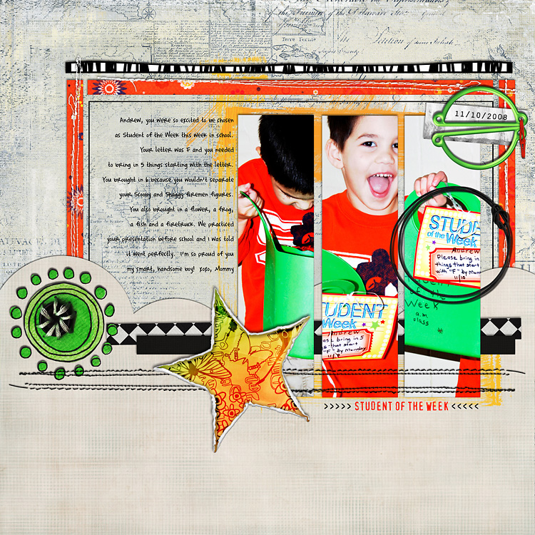 l9 layouts, old school style | digital scrapbooking