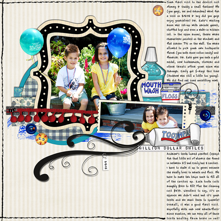 lay1 layouts, old school style | digital scrapbooking