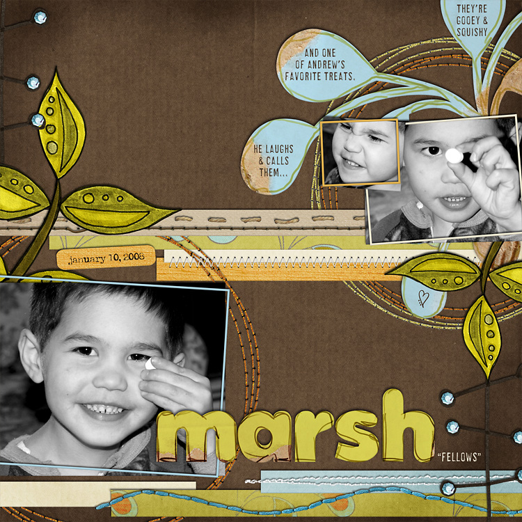 lay14 layouts, old school style | digital scrapbooking