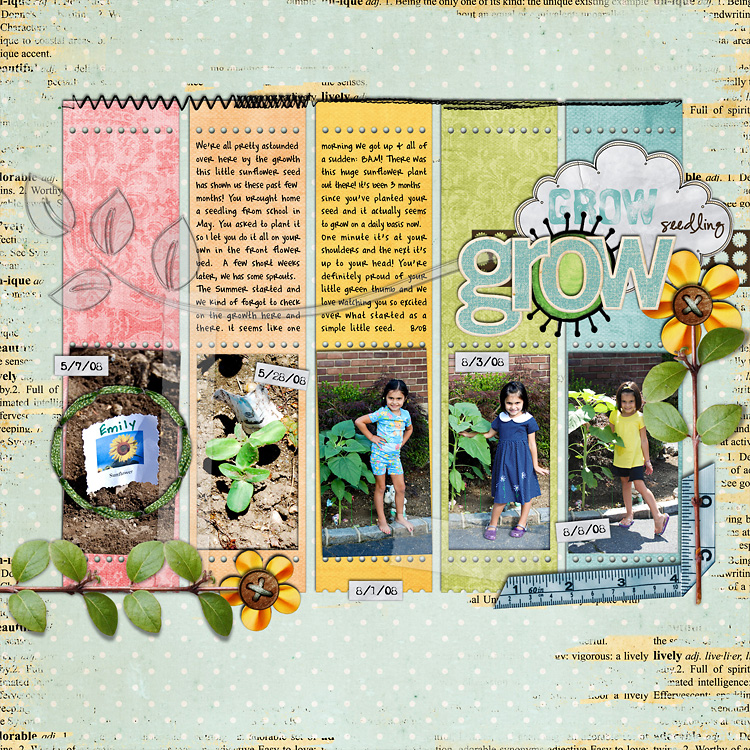 lay5 layouts, old school style | digital scrapbooking