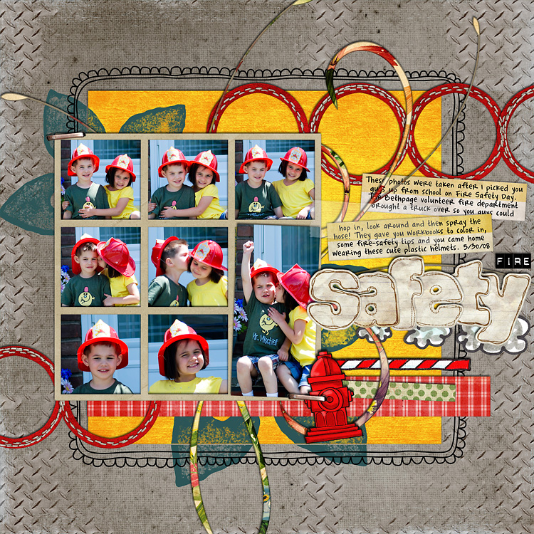 lay7 layouts, old school style | digital scrapbooking