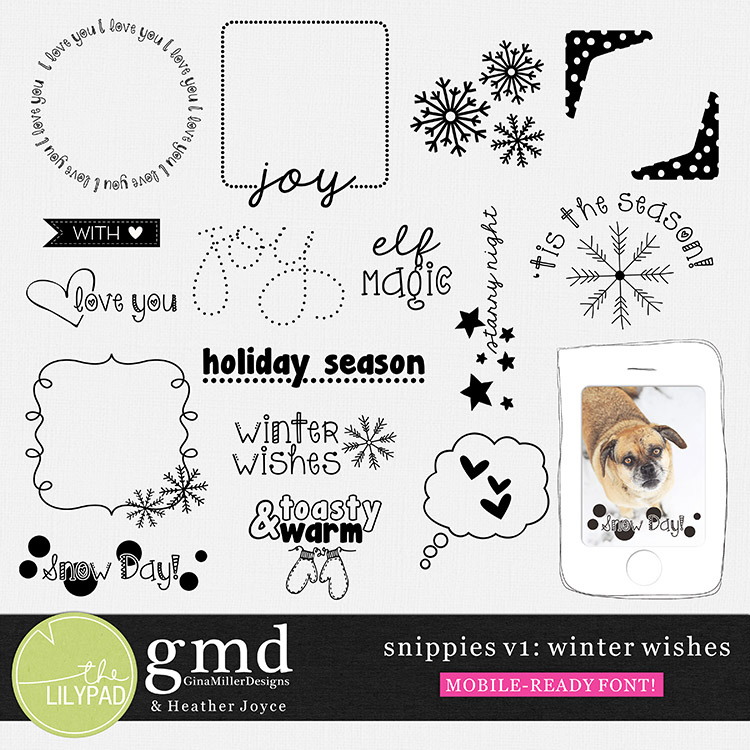gmiller snippies1 750 mobile ready scrap goodies & tips | gina miller designs