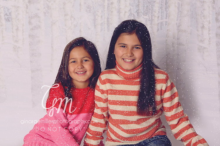girls sisters in the snow | long island childrens photographer
