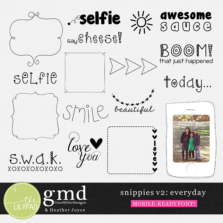 gmiller snippies2 750 DSD weekend! | digital scrapbooking