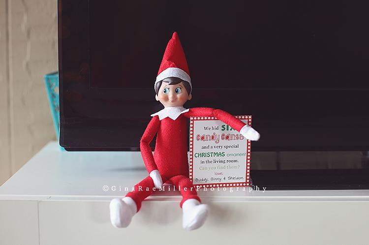 Gina Rae Miller Photography Elf on the Shelf