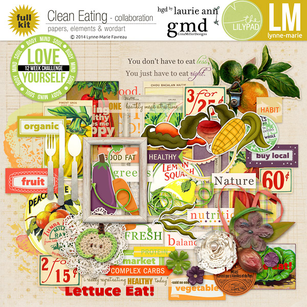 LM gmiller LaurieAnn CleanEating epv clean eating collaboration | digital scrapbooking