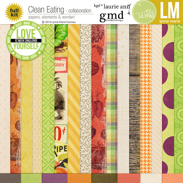LM gmiller LaurieAnn CleanEating ppv clean eating collaboration | digital scrapbooking