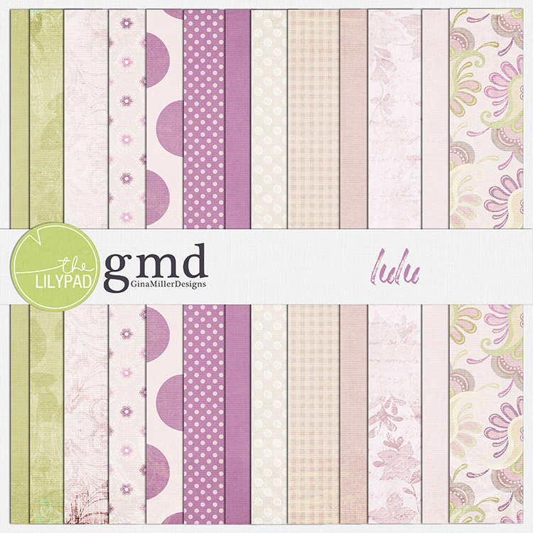 Lulu750 pretty papers | digital scrapbooking