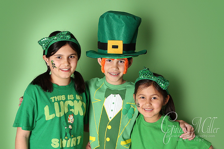 kids happy st. patricks day...