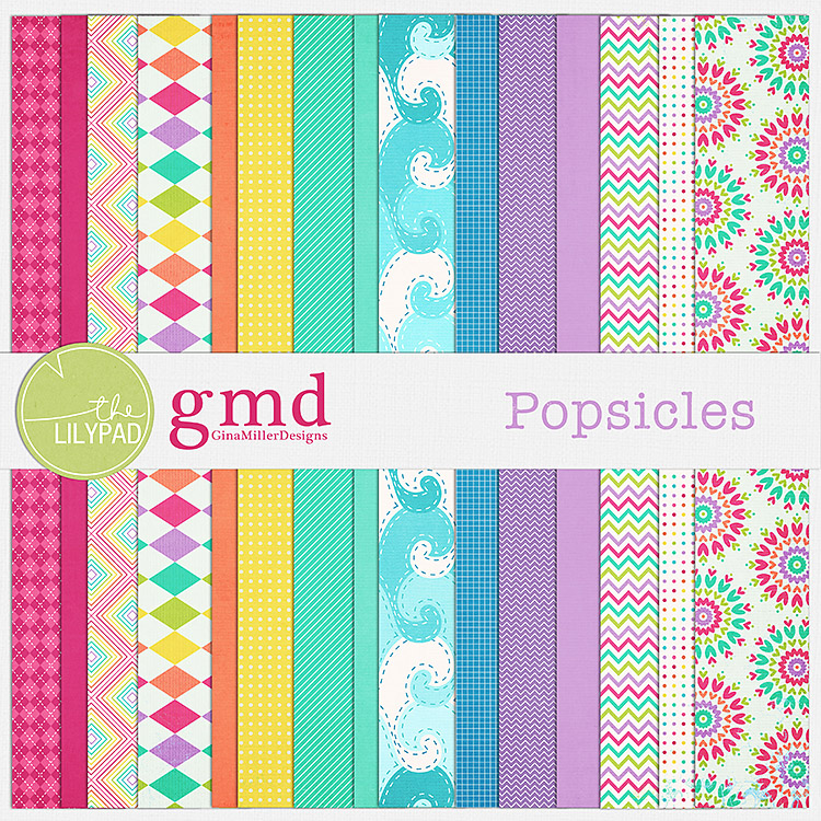 Pop750 popsicles | digital scrapbooking