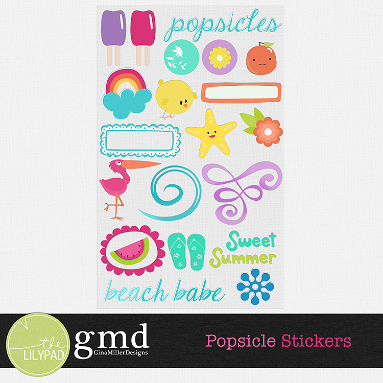 PopSt750 popsicles | digital scrapbooking