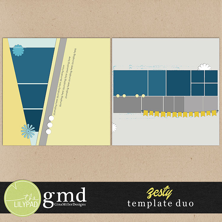Templates750 lemon zest | digital scrapbooking