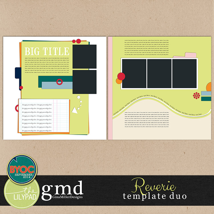 Templates750 reverie | digital scrapbooking