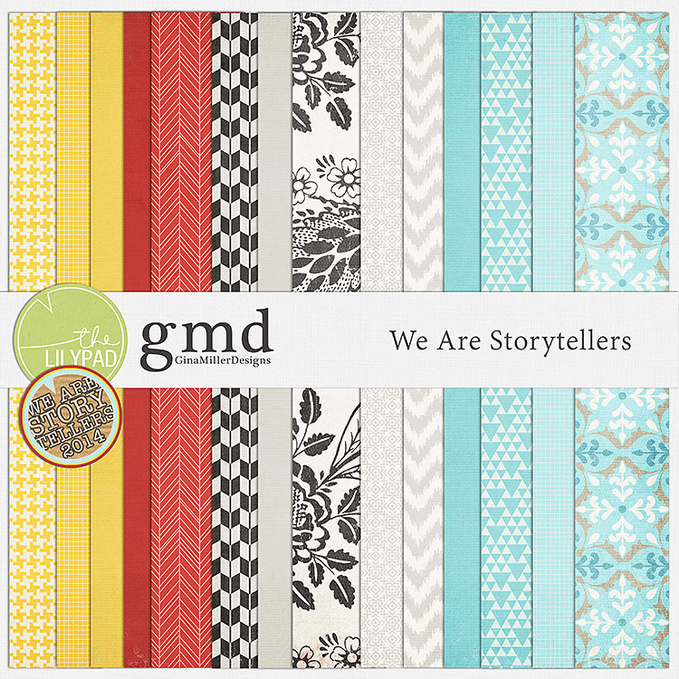 WAS750 new digital scrap goodies | gina miller designs