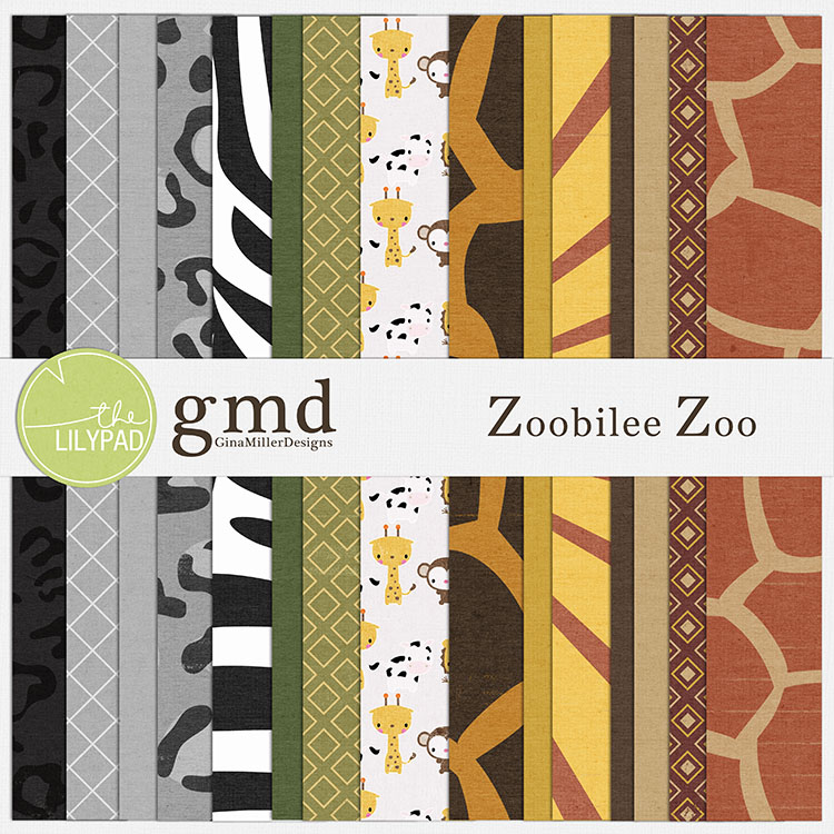 ZooPP750 new digital scrap goodies | gina miller designs