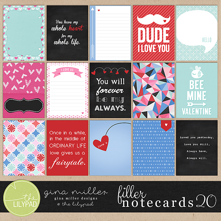 Gina Miller Designs Digital Scrapbooking Project Life