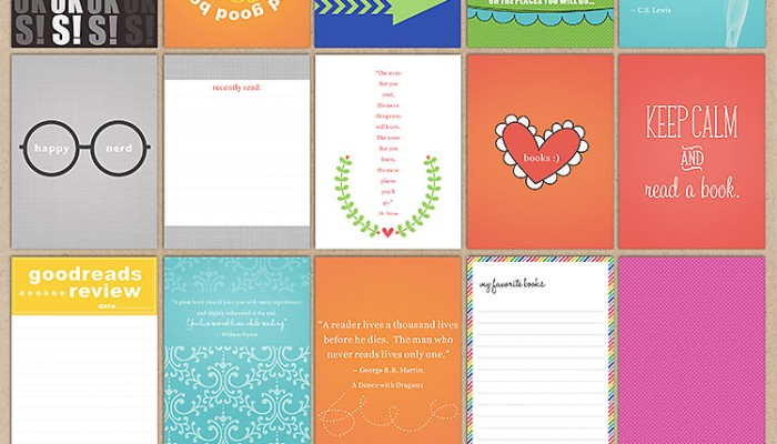 cards for book nerds | digital scrapbooking