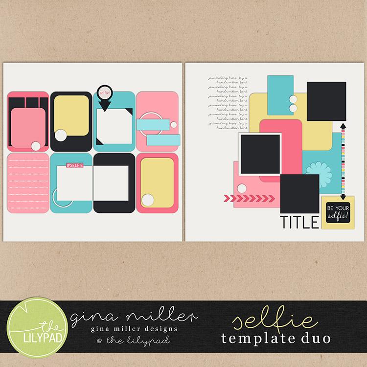 Gina Miller Designs Digital Scrapbooking Templates