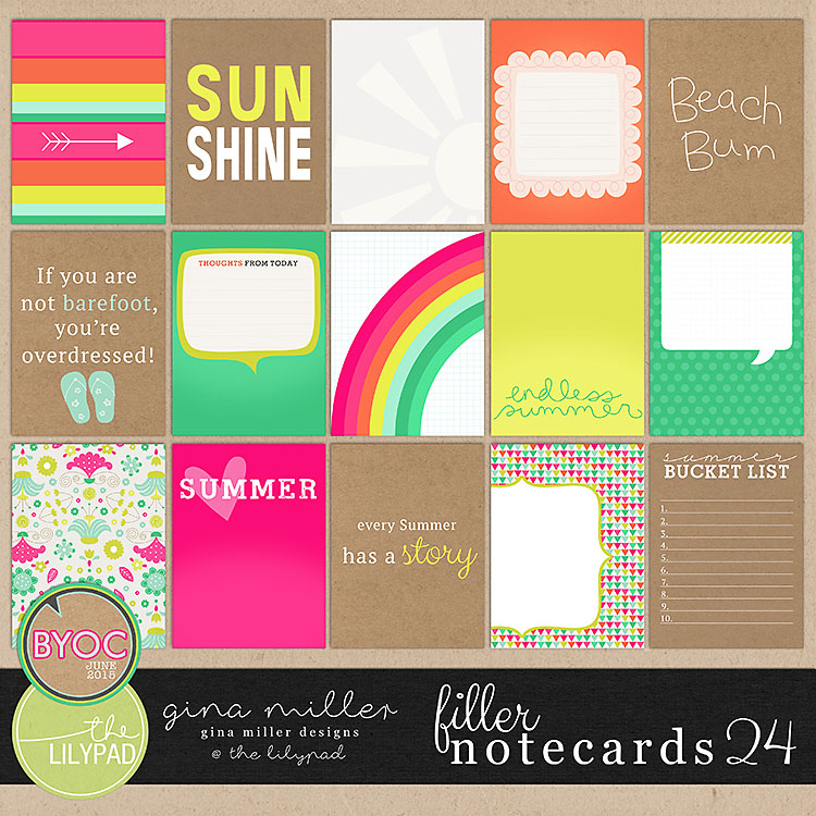 Gina Miller Designs Digital Scrapbooking BYOC