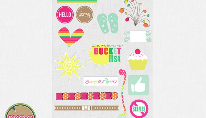 digi stickers | digital scrapbooking