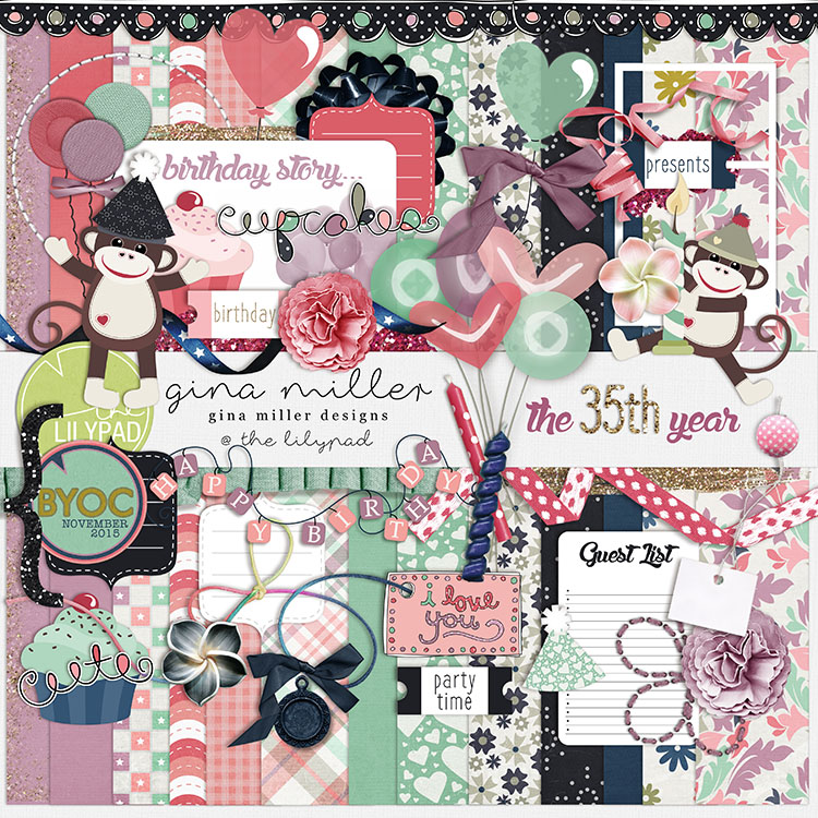 Gina Miller Designs Digital Scrapbooking DSD The Lilypad