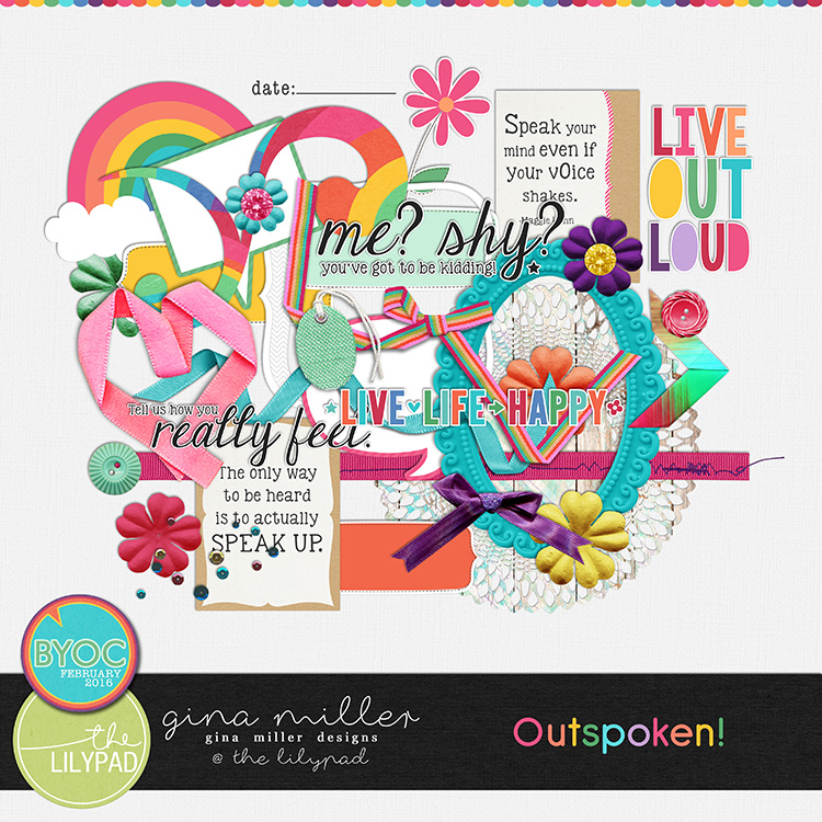 Gina Miller Designs Digital Scrapbooking The Lilypad BYOC