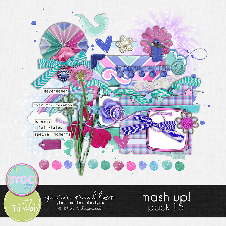 Gina Miller Designs Digital Scrapbooking The Lilypad BYOC