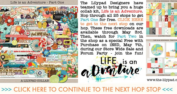 Life Is An Adventure Blog Hop! | digital scrapbooking
