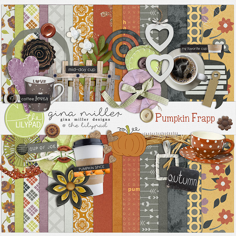 Gina Miller Designs Digital Scrapbooking The Lilypad Pumpkin Spice