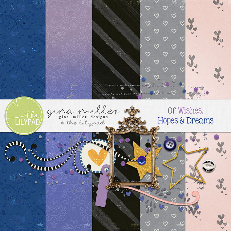 Gina Miller Designs Digital Scrapbooking Freebie DSD