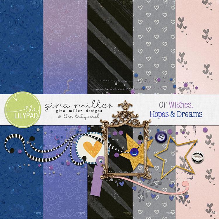 Gina Miller Designs Digital Scrapbooking Freebie DSD