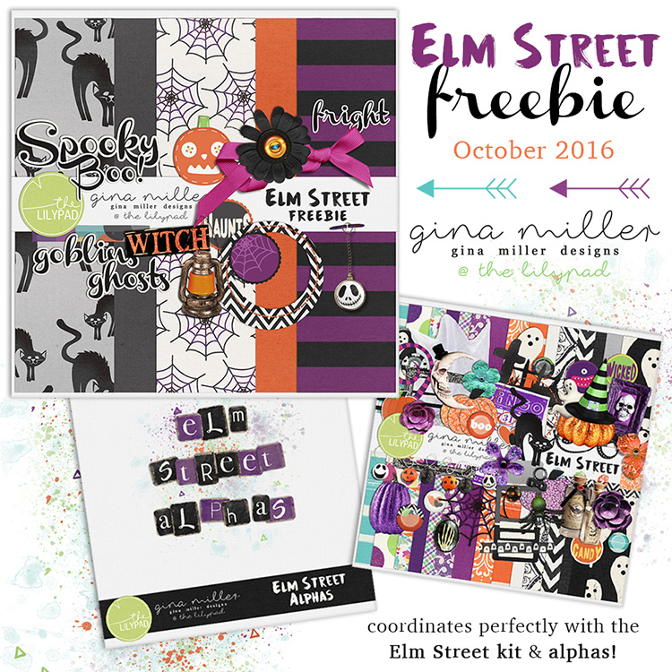 ad750Gina Miller Designs Digital Scrapbooking Halloween Elm Street Freebie